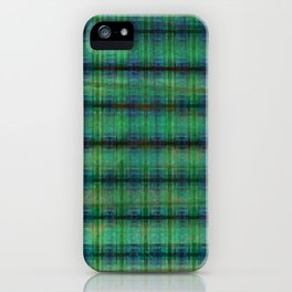 Forest Straw Plaid On Frozen Lake iPhone Case