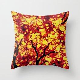 Fall 1 of 2 Throw Pillow