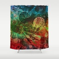 secret life Shower Curtains featuring The Secret Life of Plankton by Klara Acel