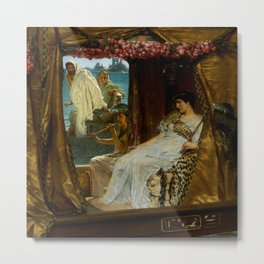 "Sir Lawrence Alma-Tadema ""The Meeting of Antony and Cleopatra"" Metal Print"