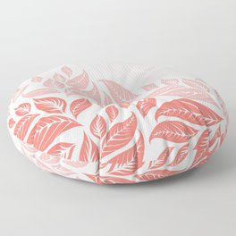 LIVING CORAL LEAVES 3 Floor Pillow