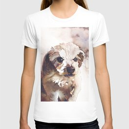 Watercolor painting of dog.   Animal artwork fine art painting dog watercolor print T-shirt