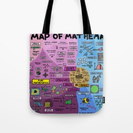 The Map Of Mathematics Tote Bag