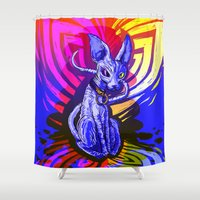 sphynx Shower Curtains featuring Sphynx!  by Devyn Park