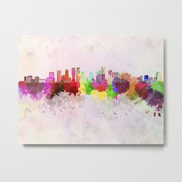 Mississauga skyline in watercolor background Metal Print