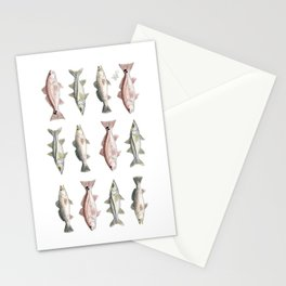 Pattern: Inshore Slam ~ Redfish, Snook, Trout by Amber Marine ~ (Copyright 2013) Stationery Cards