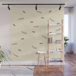 Aquarius Pattern - Beige Wall Mural