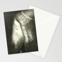 """Odilon Redon """"Profile of Light (Profil de lumière)"""" Stationery Cards"""
