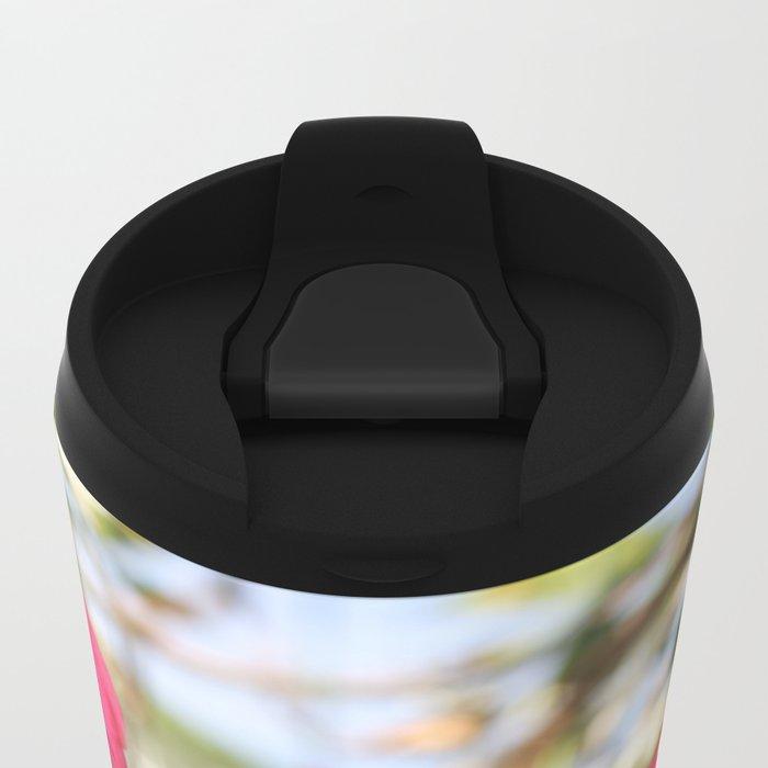 Violet Flower Metal Travel Mug