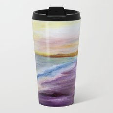purple beach Metal Travel Mug