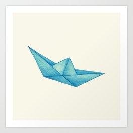 High Seas | Origami | Simplified Art Print