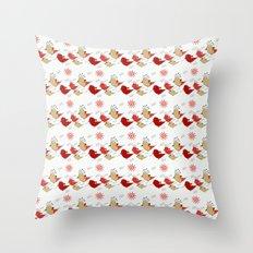 Cute birds pattern Throw Pillow