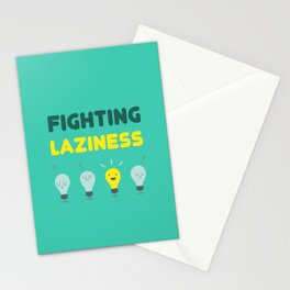 Fighting Laziness Stationery Cards