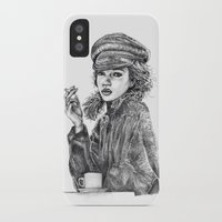 kate moss iPhone & iPod Cases featuring Kate Moss by Anja-Catharina