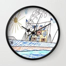 Mail Cargo Ship Wall Clock