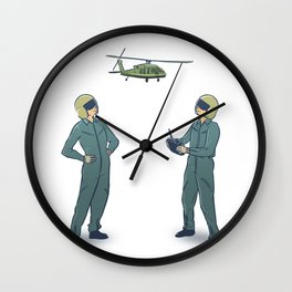 Black Hawk Down RC Pilot Wall Clock