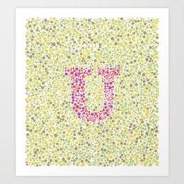 """""""U"""" Eye Test Full Art Print"""