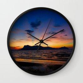 Sunset in Borneo Wall Clock