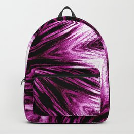 Bright Dark Violet Wine Red Abstract Blossom #purple #kaleidoscope Backpack