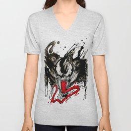 Venom - Splattered Symbiote Unisex V-Neck