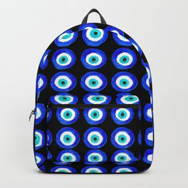 Evil Eye Amulet Talisman - on black Backpack