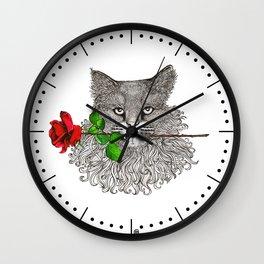 Valentine's Cat Wall Clock