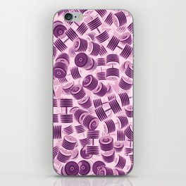 Dumbbell Camo PINK iPhone Skin