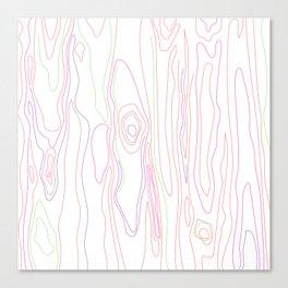 Neon Wood Grain Canvas Print
