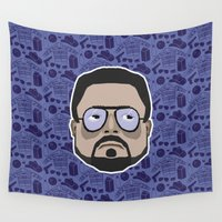 big lebowski Wall Tapestries featuring Walter Sobchak - The Big Lebowski by Kuki