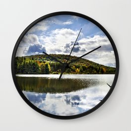 Fall Reflection Landscape Wall Clock