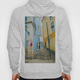 Colorful Blue and Yellow Wall in Lisboa Hoody