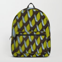 Ultimate Grey Grate Abstract Pattern With Yellow Background Backpack