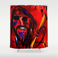 trumpet Shower Curtains featuring Jazz Trumpet by Happy Fish Gallery