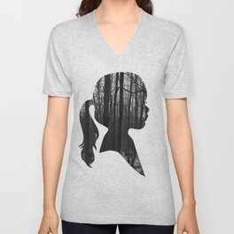 Forest girl Unisex V-Neck
