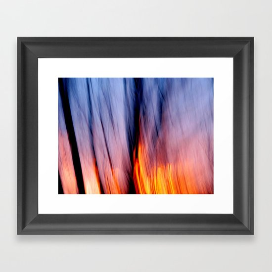 Out of the Blue into the Fire #I Framed Art Print