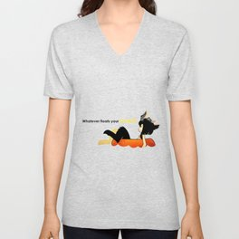 Whatever Floats Your Goats! Unisex V-Neck