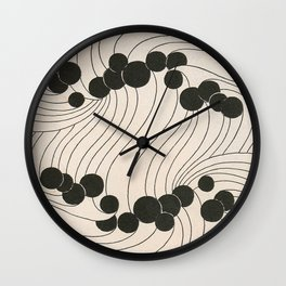 Art Nouveau Black Dots Wall Clock