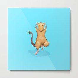 Yoga Rat, Day 2 Metal Print