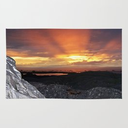 Sunset on the Rocks Rug