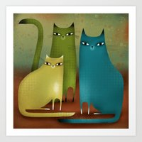 CAT STILL LIFE Art Print