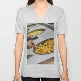 Free in a cheese factory Unisex V-Neck