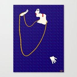 Femme Fatale c 1920 Born To Be Fabulous Canvas Print