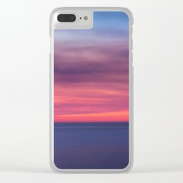 Red sunset over the ocean Clear iPhone Case