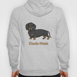 Cute Black Tan Dachshund Dog Doxie Mom Hoody