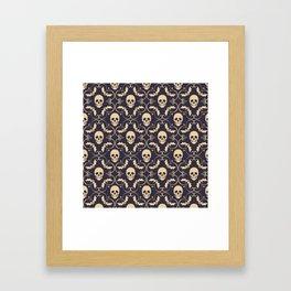 Happy halloween skull pattern Framed Art Print