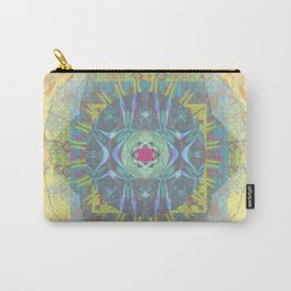 Charmed, I'm sure Watercolor Psychedelic Mandala Carry-All Pouch