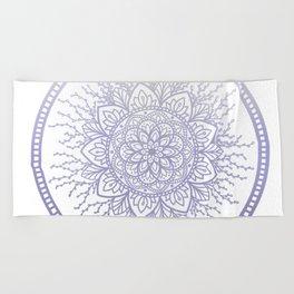 Lavender Nature Mandala Beach Towel