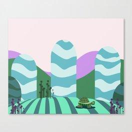 Turtle kawai Canvas Print