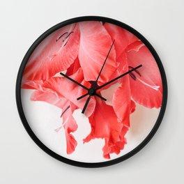 Coral Cascade Wall Clock