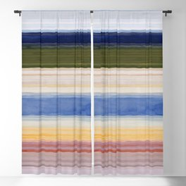 Colorbands Yellowstone Light Pink Blackout Curtain